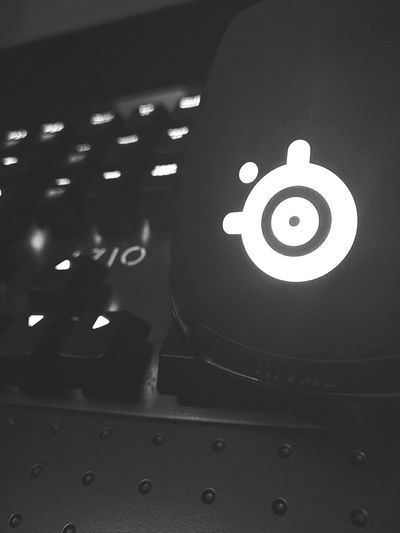 SteelseriesRival AzioKeyboard Black & White Music Arts Culture And Entertainment Archival Indoors  No People Close-up Record Turntable Technology Stereo Performance Astronomy Day First Eyeem Photo