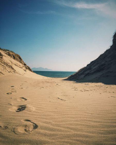 IDYLLIC SUNNY BEACH IN UNITED KINGDOM