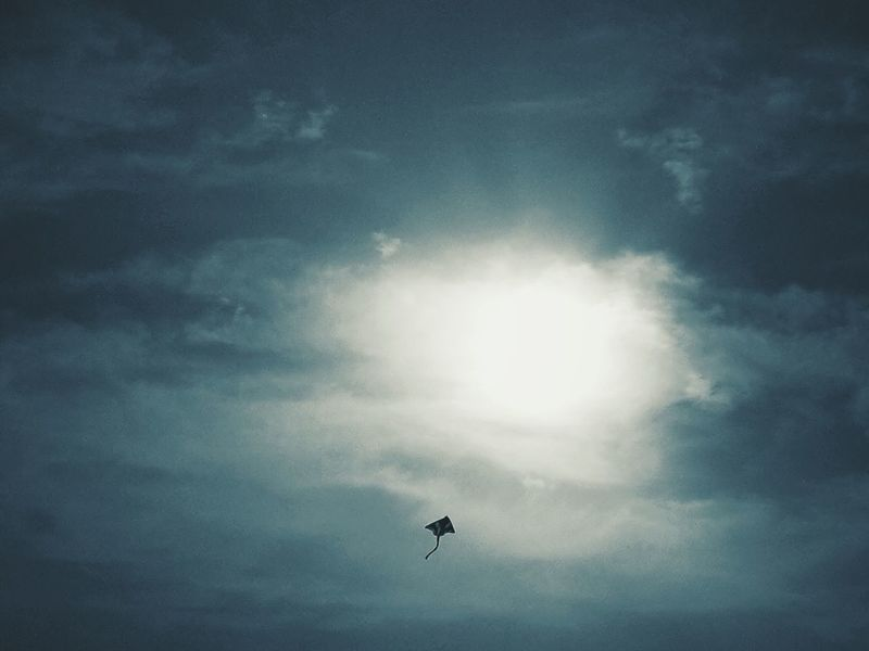 The kite | Flying Sky Silhouette Cloud Tranquility Sun Fine Art Abstract Getting Inspired Beachtime Ice Age Beauty In Nature No People Outdoors My Favorite Place Nature Kite Bibione Pineda EyeEm Italy|