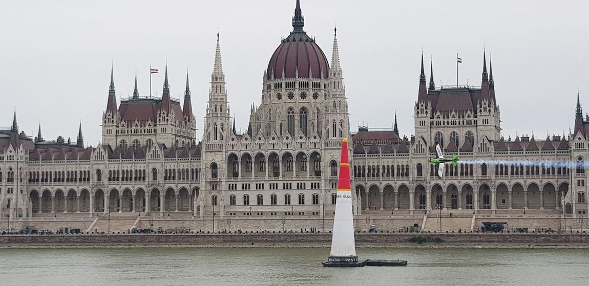 Training ahead of this weekend's Red Bull Air Race in Budapest, Hungary Red Bull Air Race Budapest Hungary MyCity❤️ Adventure Entertainment Showcase June Parliament Building Adrenaline