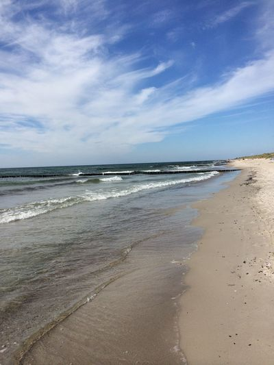 Baltic Sea Beach Beauty In Nature Blue Calm Cloud - Sky Day Eyem Nature Lovers  Horizon Over Water Idyllic Nature Sand Scenics Sea Seascape Shore Sky Summer The KIOMI Collection Tranquility Vacations Water Germany Ostsee auf Rügen