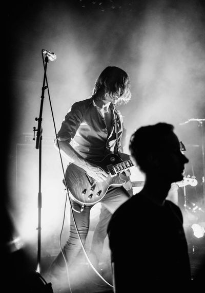 Refused Silhouette Guitar Live Music Portrait Blackandwhite Arts Culture And Entertainment Performance Music Men Two People Musical Instrument Musician Playing Artist People Event Musical Equipment Skill  Indoors  HUAWEI Photo Award: After Dark