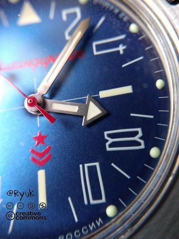 Clock Face Time Number Clock Minute Hand Hour Hand No People TheVille Streamzoofamily Blue Full Frame Komandirskie K35 Vostok Watch Russian Watch Made In Russia