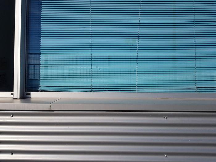 Corrugated metallic texture, blue blind, modern surface