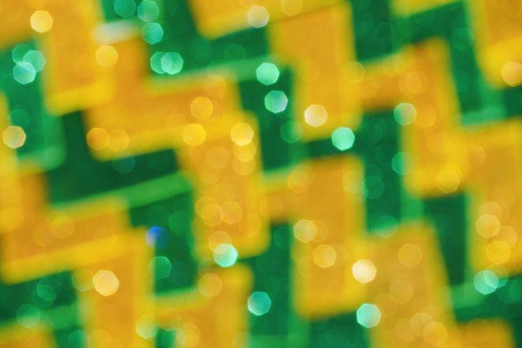 Defocused image of illuminated blurred lights