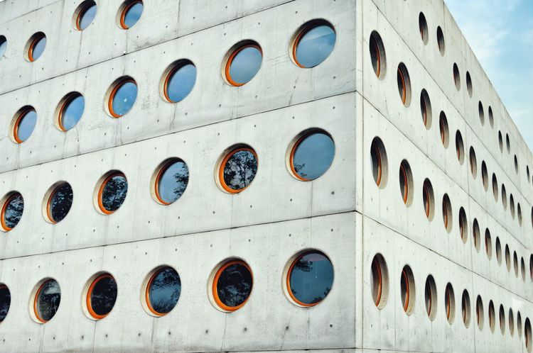 EyeEm Selects Full Frame Circles Circles Pattern Built Structure Building Exterior Backgrounds Window Architecture Architectural Feature Architectural Detail Geometry Urban Geometry Repetition Repetitive Pattern Pattern Urban Urbanphotography Urban Perspectives Urban Photography The Week On EyeEm The Architect - 2018 EyeEm Awards