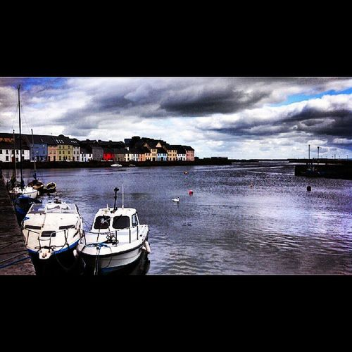 Down by the bay Galway Thisisreallife Boats Swans colors bay ireland beautiful solucky adventures