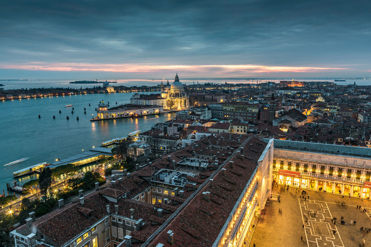 Venetian winter sunset Cityscape Copy Space Gold San Marco Square Santa Maria Della Salute Travel Venezia View Architecture Blue Bridge - Man Made Structure Building Exterior Built Structure Campanile City Cityscape Cloud - Sky Connection Day Dusk Europe Full Frame High Angle View Illuminated Italy No People Outdoors River San Marco Sky Sunset Tourism Tower Transportation Travel Destination Travel Destinations Venice View From Above The Traveler - 2018 EyeEm Awards