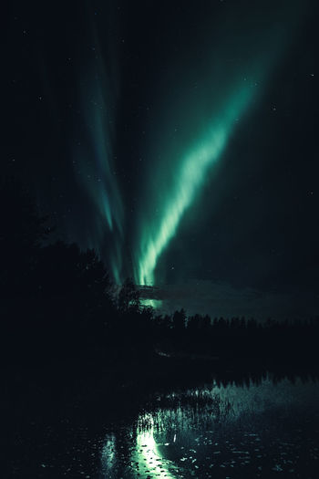 Lights and reflections Night Water Beauty In Nature Sky Scenics - Nature Star - Space Astronomy Tranquility Tranquil Scene No People Nature Reflection Idyllic Northern Lights Aurora Borealis River Green Color Black Finland Outdoors Light And Shadow Freshness Scenics Landscape Backgrounds