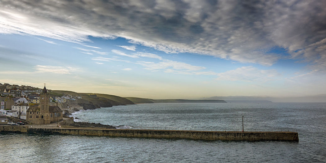 Architecture Beach Beauty In Nature Building Exterior Built Structure Cloud - Sky Cornwall Horizon Landscape Nature No People Outdoors Porthleven Scenics Sea Sky Sunset Tranquility Travel Travel Destinations Water