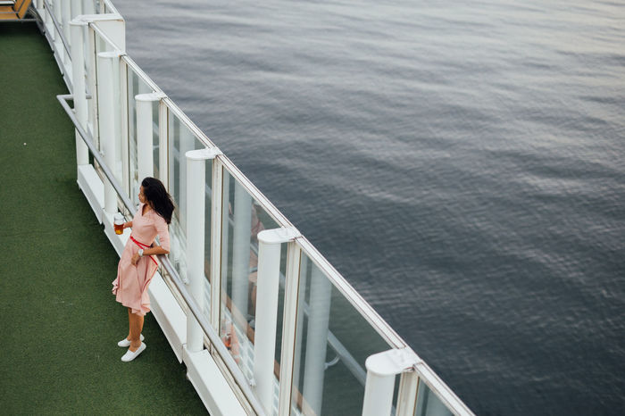 Beer Cest La Vie Cruise Ship Happiness La Dolce Vita Thinking Alcohol Carefree Cruising Drinking Enjoying Life Leisure Activity Lifestyles Ocean Relaxation Relaxing Moments Sailing Sea Sea Life Smiling Transportation Vacation Windy Day Women Young Adult EyeEm Ready   Colour Your Horizn