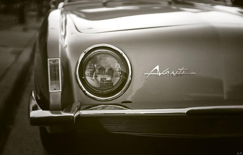 Blackandwhite Oldcar Studebaker Avanti Manuallens Fujian 35mm