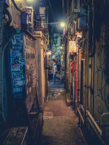 Tokyo - Golden Gai Golden Gai Nightphotography Architecture City Night One Person Streetphotography