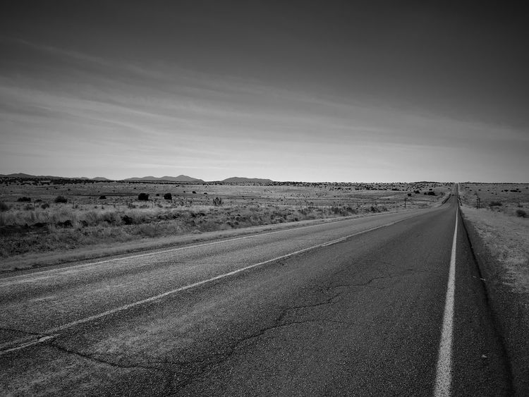 """My Life Journey"" The open road my dream, yet a prisoner of my life circumstances. New Mexico Photography New Mexico Metaphor Asphalt Open Road Blackandwhite Photography Blackandwhite Black And White Road The Way Forward Landscape Transportation Nature Outdoors No People"