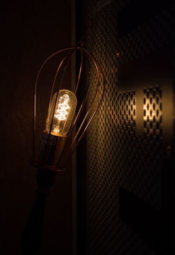 Illuminated Lighting Equipment Indoors  Electricity  No People Low Angle View Technology Hanging Light Bulb Night Close-up