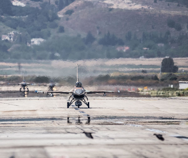 Aviation Blue Sky F-16 Fighting Falcon Flight General Dynamics IAF Israeli Air Force Mode Of Transport Runway Taxiing Transportation