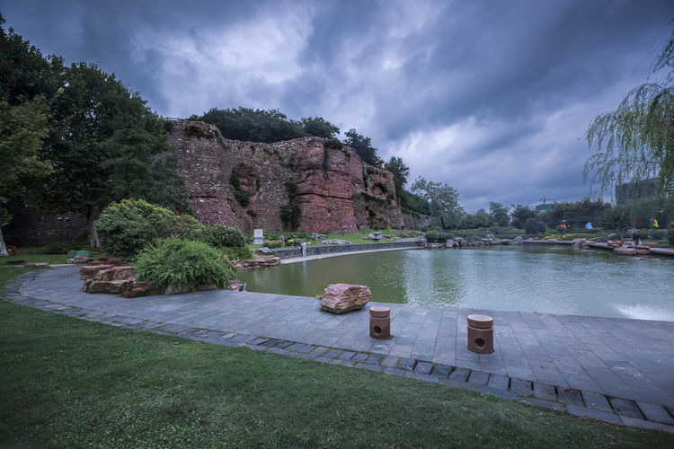 Hidden Gems-Nanjing rocks city walls Monuments Relic Beauty In Nature Cloud - Sky Hidden Gems  Leisure Activities Nature Outdoors Rocks City Wall Scenics Sky The Ancient City Wall The City Walls Tourism Tourist Attractions Tourist Destination Tlemcen Algeria Tranquil Scene Tranquility Travel Travel Destinations Tree