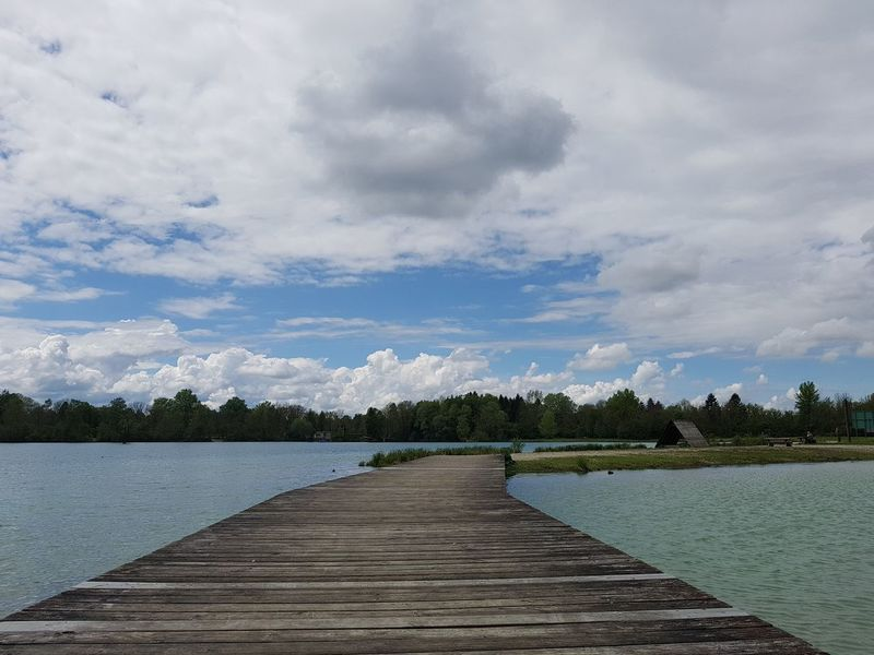Beauty In Nature Cloud - Sky Day Jetty Lake Nature No People Outdoors Pier Scenics Sky Tranquility Tree Water