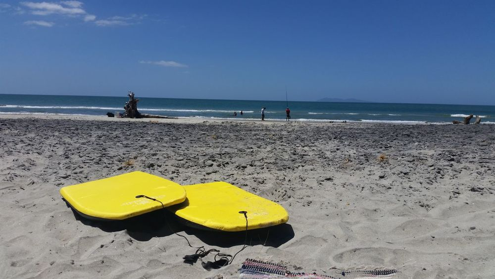 Boogie boards on the beach. Taken with my samsung galaxy 5 First Eyeem Photo EyeEmNewHere Summer Water Outdoors Fresh On Eyeem  Scenics Nature Beauty In Nature Sky Beach Betterlandscapes. Eyeemnaturelover💕💕😊☺ Lifeisbeautiful