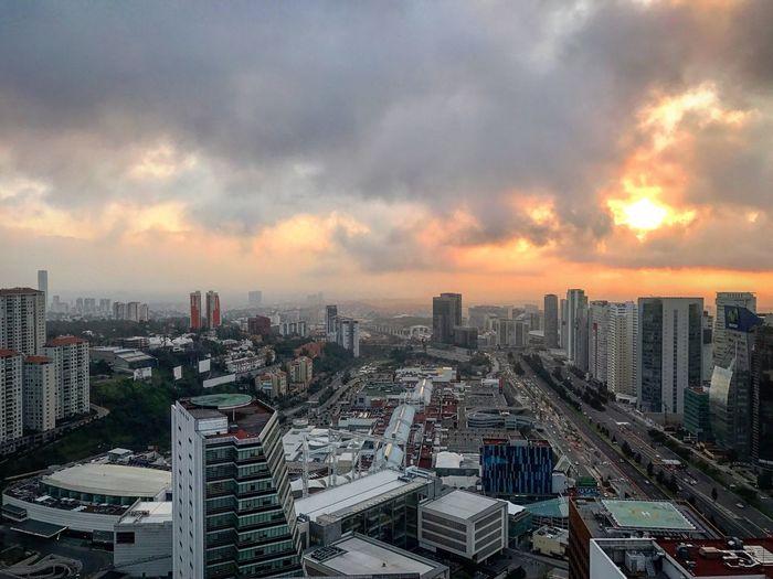 Mexico city sun rise