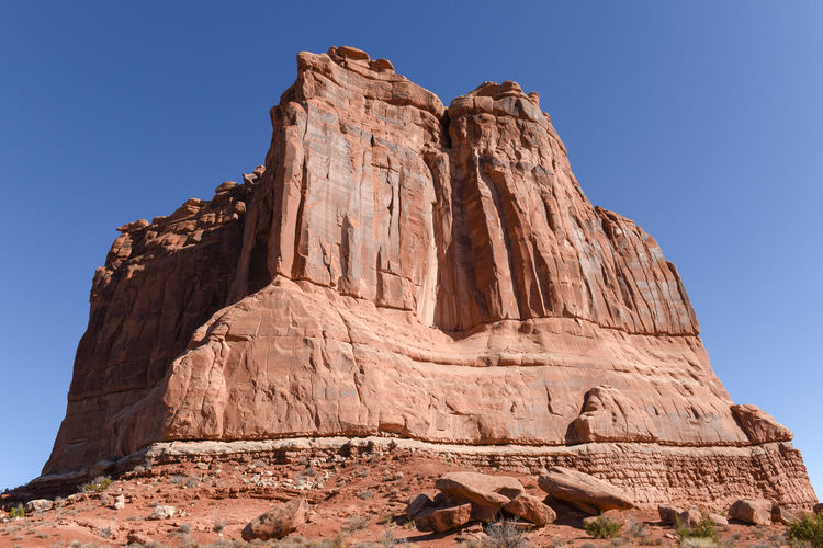 The courthouse towers, arches national park