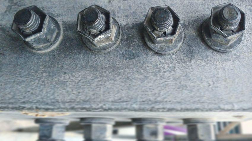 Four screws - Metal No People Close-up Screws