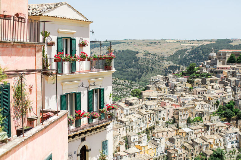 Architecture Balcony Buildings City City City Life Colorful House Houses Italien Italy Mountain Oldtown Ragusa Ragusa Ibla, Sicily Residential Building Sicilia Sicily Sizilien Sunny Town