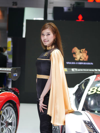 dec.3 2017 thailand motor expo 2017 impact challenger Motor Show Singha Beer Beautiful Woman Car Casual Clothing Cheerful Happiness Leisure Activity Lifestyles Looking At Camera Motor Expo One Person People Portrait Pretty Pretty Girl Real People Singha Smiling Standing Transportation Young Adult Young Woman Young Women Young Women Portrait Human Face
