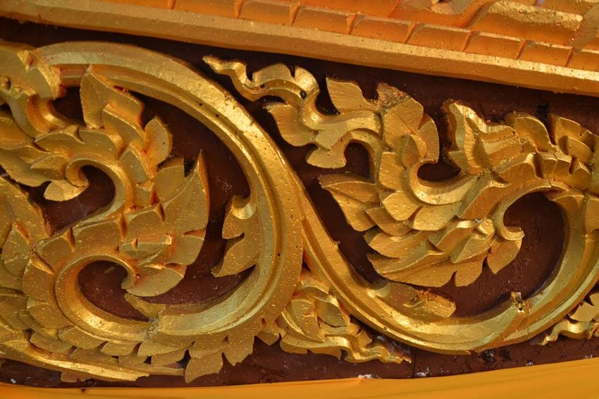 Pattern Thailand Line Thai Travel Sculpture Style Asian  Festival Car Backgrounds Colroful South Beauty Gold Gold Colored Ornate History Astrology Sign No People Close-up