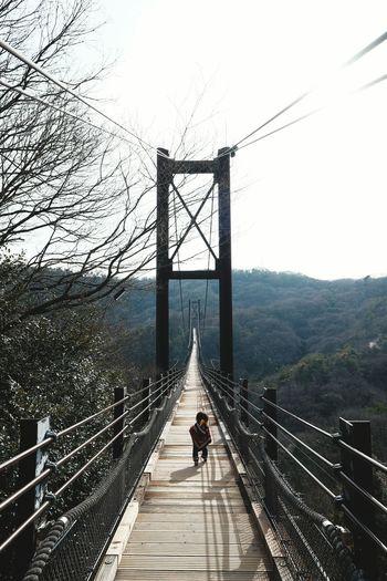 府民の森にあるつり橋。 木床板人道つり橋で国内最大級とか。 On The Road Bridge EyeEm Nature Lover Fuji X-T1