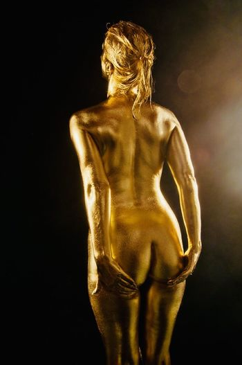 Nude_model Goodnight Good Morning NakedButts Nude-Art SexyGirl.♥ Sexygirl Naked_art Hotgirl Sternfee Sexygirl Studio Shot Gold Colored Body Part Body Paint