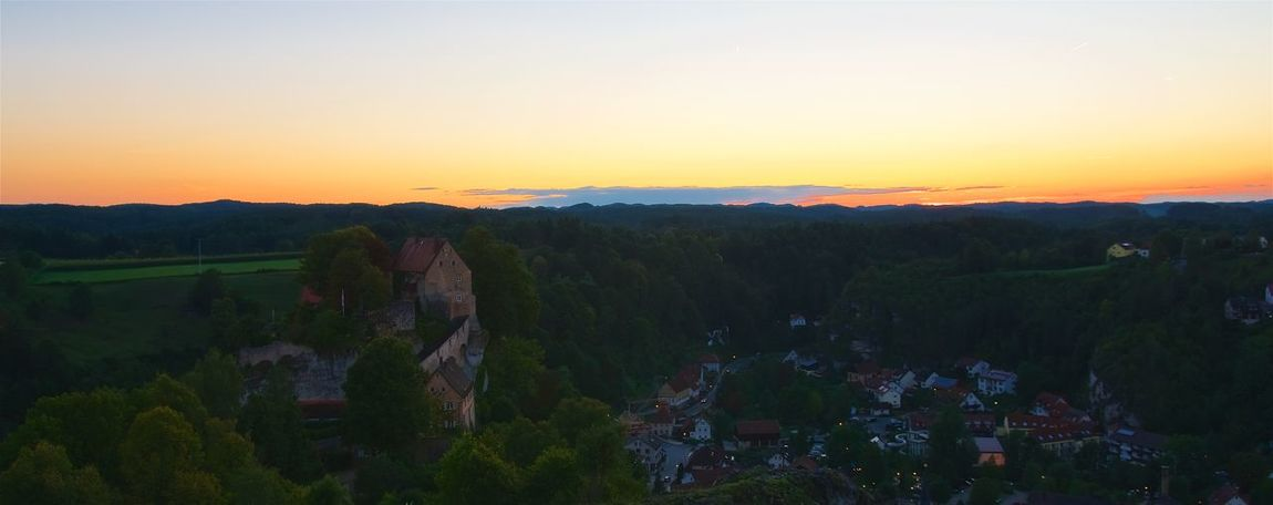 Sunset in Pottenstein Castle Contrast And Lights Himmel Beauty In Nature Colorful Contrast Fränkische Schweiz Landscape Outdoors Pottenstein Scenics Sky Sunset Tranquil Scene