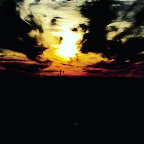 First Eyeem Photo Coseacaso Coseamuzzo Paesaggio Sole...☀ Nuvole Clouds Sun Il Fuoco Nel Cielo The Fire In The Sky