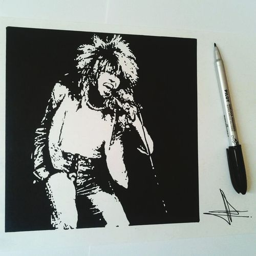 Tina Turner Drawing Finished