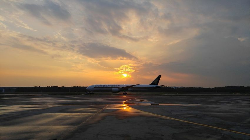 The lengths we go to. Sunset Cloud - Sky Outdoors Nature Airport After The Rain Beauty In Nature Lgv10photography Singapore Airlines Working Hard LGV10 Hustle