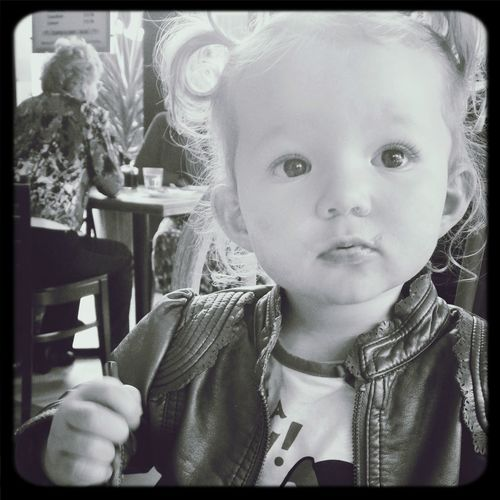 My beautiful daughter having a lunch date with me First Eyeem Photo
