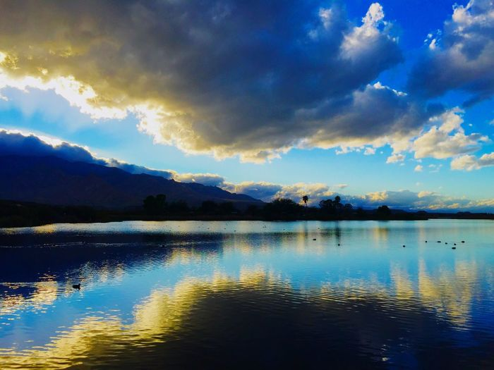 Roper Lake in Safford, Arizona during the Fall. Safford Beauty In Nature Landscape_photography Nature Photography Light Colors Clouds And Sky National Park Water Reflections Reflection Reflections Beauty RoperLake