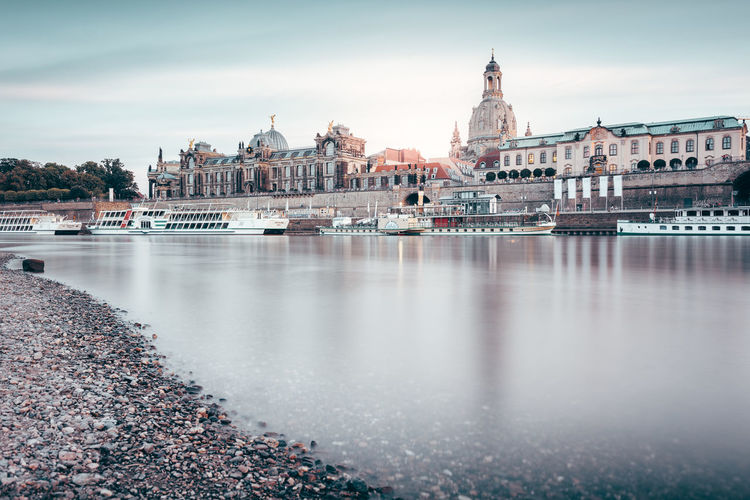Brühlsche Terrasse | Dresden, Germany 2016 Altstadt Dresden Architecture Brühlsche Terrasse Building Exterior Built Structure Day Dresden Dresden Travel Elbe River Fine Art Fine Art Photography Long Exposure No People Outdoors River Riverbank Sachsen Sand Sax Sky Summer 2016 Visit Dresden Visit Indonesia Water Waterfront