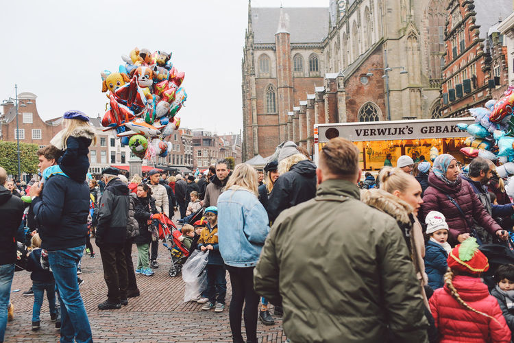 Built Structure Celebration City Crowd Day Festival Festival Season Grote Markt Large Group Of People Men Netherlands Outdoors Parade People Saint Nicholas Sint-Nicolaas Sinterklaas Women Zwarte Piet