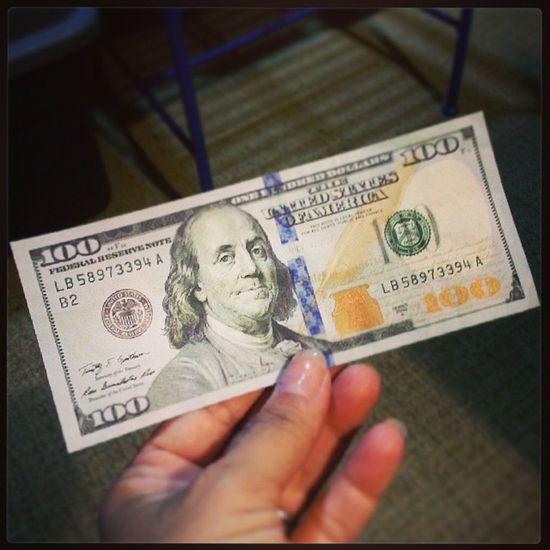 New 100 USD bill, have you seen any? Newbill Money USD Currency 100 newmoney brandnew picoftheday