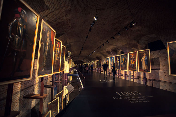 The Savoy royal family portrait gallery. 16th Century Art Gallery Historic Historical Building Historical Sights Italy Old Architecture Old Building  Royal Royal Gallery Venaria Venariareale
