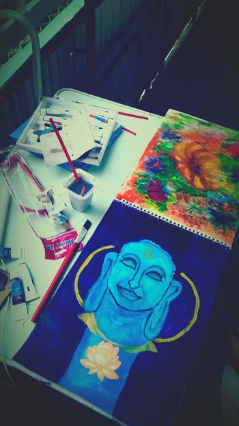 It's so cute, I'm so happy, when i draw Drawing Buddha Flowers Rest & Relax Summer Holidays Happy :)