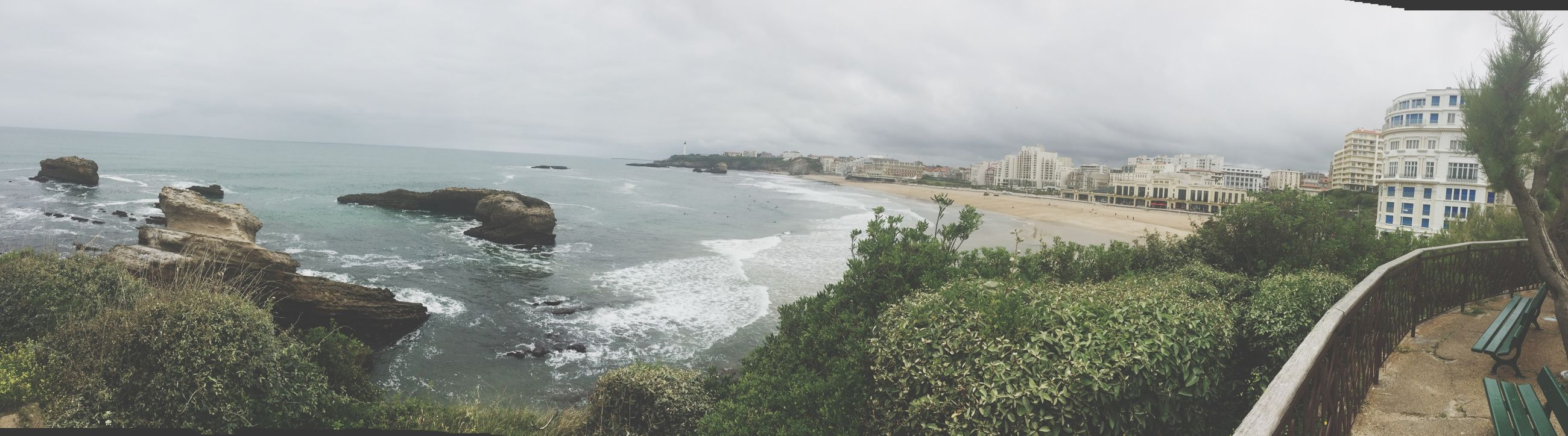 Taking Photos Sunset Summer Sea Panorama Sudouest IPhoneography Biarritz Landscape Photography