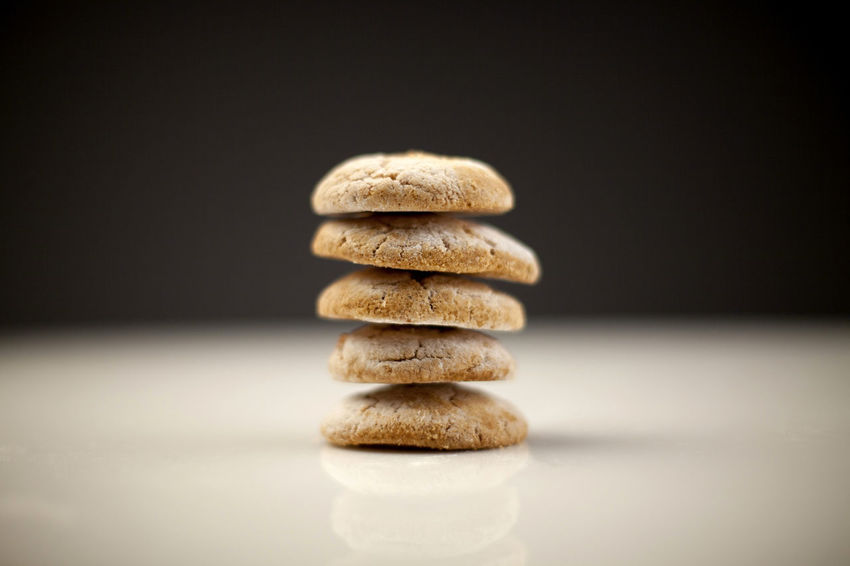 Tower of homemade cookies Abundance Bakd Baked Bakery Black Background Cookies Delicious Food Food And Drink Freshness Gray Background Homemade Indoors  Indulgence No People Stack Studio Shot Sweet Food Tasty