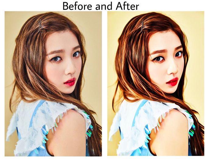 Edit Kpop Joy Girlgroup Effect Girls One Person Portrait Long Hair Photo Edited