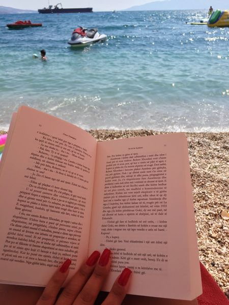 Vlore Sarande Hemingway Books Summer Book Sea Beach Water Sand Human Body Part Real People Human Hand One Person Nature