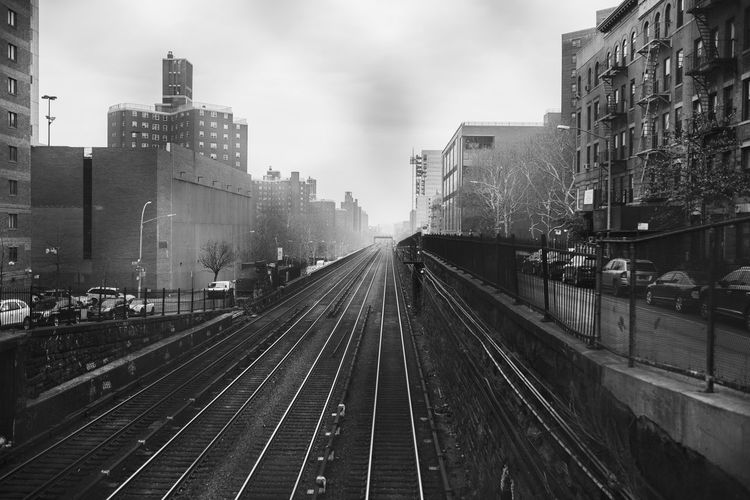 Metro North New York New York City Architecture Building Exterior Built Structure City Day No People Outdoors Public Transportation Rail Transportation Railroad Track Railway Track Sky Tracks Train Train - Vehicle Transportation