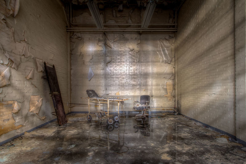 Abandoned Places Decay Reflection Transportation Abandoned Absence Arcade Building Chair Creativity Hdrphotography Indoors  Industry Lostandfound No People Old Reflections In The Water Seat Tranquil Scene Zen
