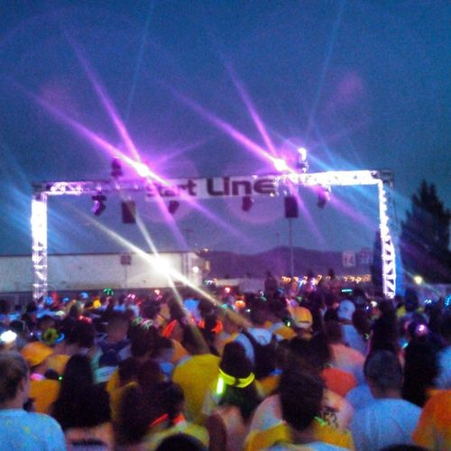 Let the race begin! Race Foamglow Foam Follow4follow run chillin lights 5k glow start line fun nofilter rave edm
