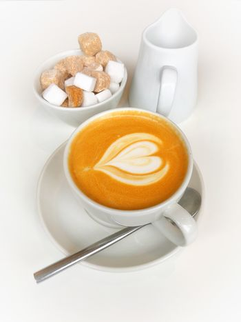 Latte coffee with latte art Latte Latte Art Coffee Cup Drink Coffee - Drink Food And Drink Refreshment Frothy Drink Cup Saucer No People High Angle View Froth Art Cappuccino
